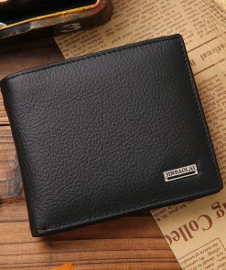 Men's Genuine Leather Hasp Design Wallet with Coin Pocket Wallets cb5feb1b7314637725a2e7: Black|Brown coffee|Hasp Black|Hasp Brown