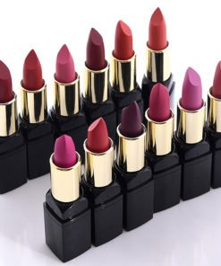 12pc Velvet Long Lasting Nutritious Lipsticks Set Beauty Products cb5feb1b7314637725a2e7: No Box|wish Box