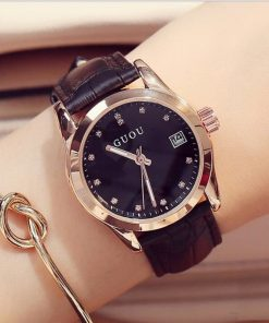 GUOU Top Brand Diamond Ladies Fashion Watch Watches cb5feb1b7314637725a2e7: Black|Grey|Purple|White
