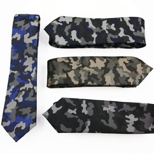 Fashion Jacquard Military Camouflage Slim Necktie for Men Ties & Accessories cb5feb1b7314637725a2e7: Acid Blue|Beige|Black Grey|Blue|blue green|blue red|Grass Green|Grey Pink|Light pink|Military Green|Navy|Orange|Rose Red|Sky Blue|Yellow