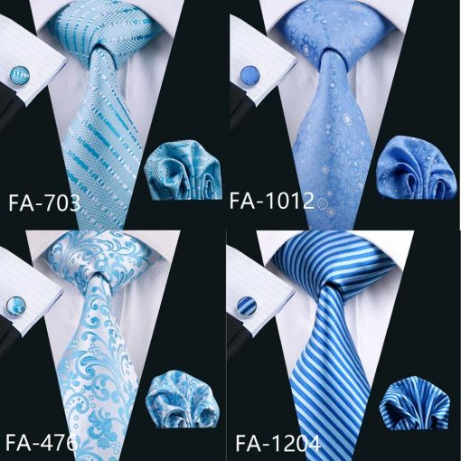 20 Styles Blue Fashion Woven Neckties Hanky Cufflinks Set Ties & Accessories cb5feb1b7314637725a2e7: Army Green|Blue|dark gray|Dark Grey|Gold|Gray|Green|Lavender|light yellow|Milky White|Peacock Blue|Plum|Red|Silver|Sky Blue|Turquoise|White|Yellow