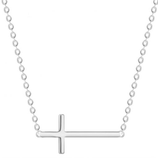 Female 925 Sterling Silver Cross Simple Wild Pendant Necklace Jewelry Fine or Fashion: Fashion