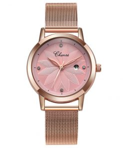 CHNEXI Simple Rose Gold Mesh Stainless Steel Luxury Casual Women's Watch Watches cb5feb1b7314637725a2e7: Golden Pink|Golden Pink in Box|Golden White|Golden White in Box|Silver Blue|Silver Blue in Box|Silver Pink|Silver Pink in Box|Silver White in Box|silver white