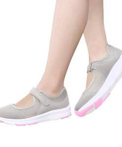 EOFK Casual Flat Comfortable Breathable Shoes for Women Footwear cb5feb1b7314637725a2e7: Black|Dark Grey|Gray|wine red