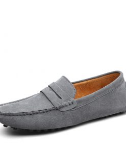 High Quality Genuine Leather Soft Moccasin Loafers Men's Shoes Footwear cb5feb1b7314637725a2e7: Black|dark blue|Gray|khaki|Ligth Brown|Mo Green|Navy|Orange|Sky Blue|Wine