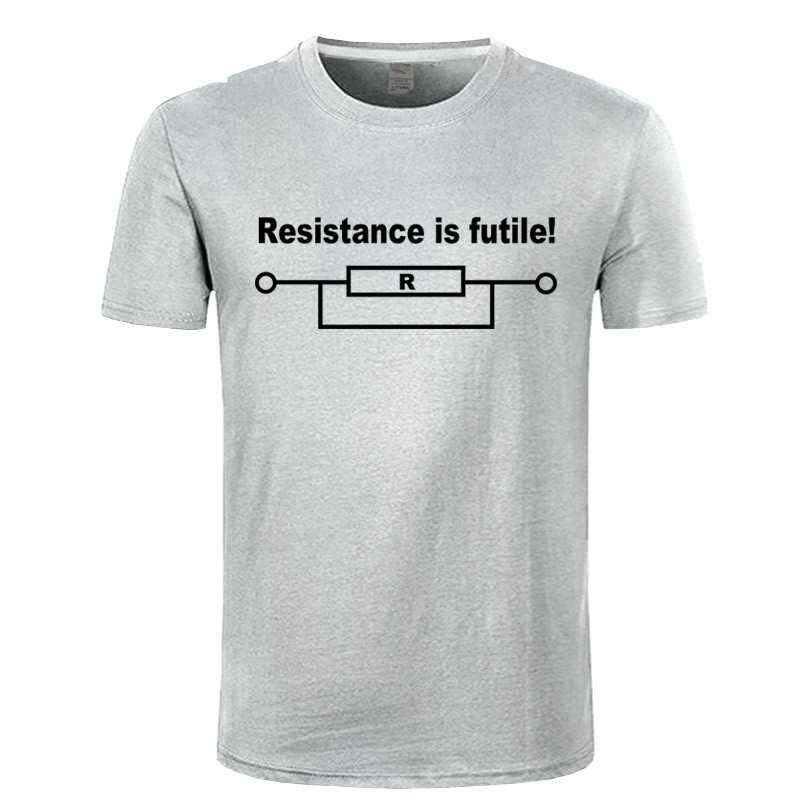 Resistance is Futile Funny Printed Men's T-shirt