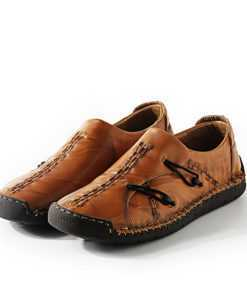High Quality Handmade Natural Leather Casual Moccasin Shoes for Men Footwear cb5feb1b7314637725a2e7: Black|Red|Yellow