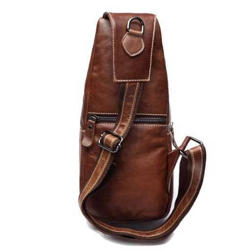 Fashion Genuine Leather Men's Messenger Crossbody Bag Bags cb5feb1b7314637725a2e7: Black|Brown|Dark Grey|Light Brown