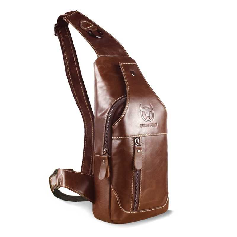 Genuine Leather Men's Messenger Bag