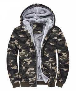 Mountainskin Camouflage Thick Army Hoodie Men's Coats Jackets and Hoodies cb5feb1b7314637725a2e7: Amy Green
