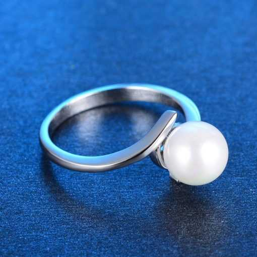 Hot Sell Imitation Shell Pearl 925 Sterling Silver Ladies Ring Jewelry 2ced06a52b7c24e002d45d: 10|5|6|7|8|9