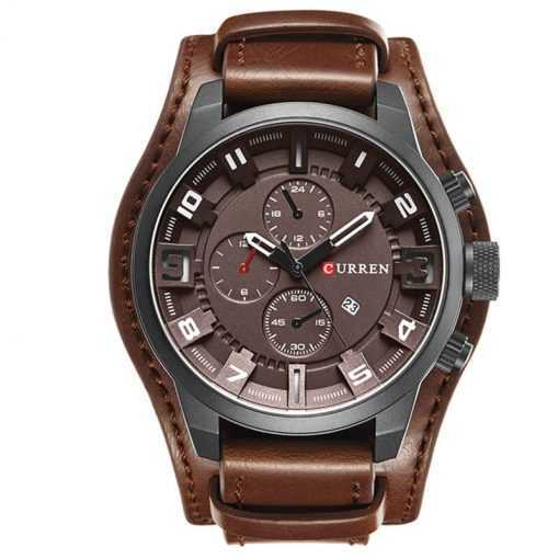 Curren Leather Band Casual Sport Men's Quartz Watch Watches cb5feb1b7314637725a2e7: Brown|Gray|Red|White|Yellow