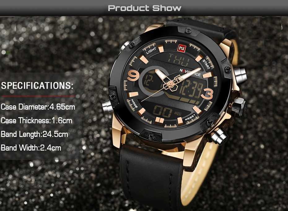 NAVIFORCE Leather Band Watch for Men