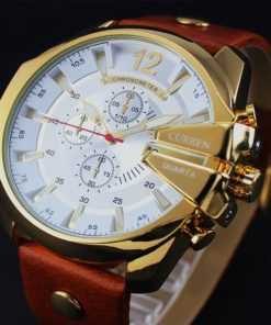 CURREN Fashion Leather Band Luxury Quartz Watch for Men Watches cb5feb1b7314637725a2e7: black white|Golden White|Silver Blue|silver brown|black black|golden black|silver black
