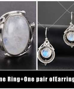 Authentic 925 Sterling Silver Natural Moonstone Vintage Rings for Women Jewelry 2ced06a52b7c24e002d45d: 10|11|12|6|7|8|9