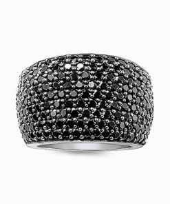 Black Pave Cocktail Silver Unisex Ring Jewelry 2ced06a52b7c24e002d45d: 7|8|9