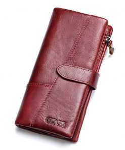 Genuine Leather Money Clamp Long Card Holder Wallet for Women Wallets cb5feb1b7314637725a2e7: Brown-M|Brown-S|Coffee-L|Red-L|Red-M|Red-S