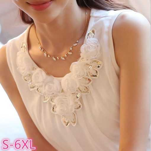 Crochet Lace Elegant Sleeveless Women's Sexy Blouse Tops and Blouses cb5feb1b7314637725a2e7: Black 12|Black 82|white 01|White 02|White 12|White 82