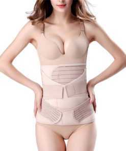 Women's 3in1 Breathable Belly Control Slimming Belt Body Shaper cb5feb1b7314637725a2e7: Ivory