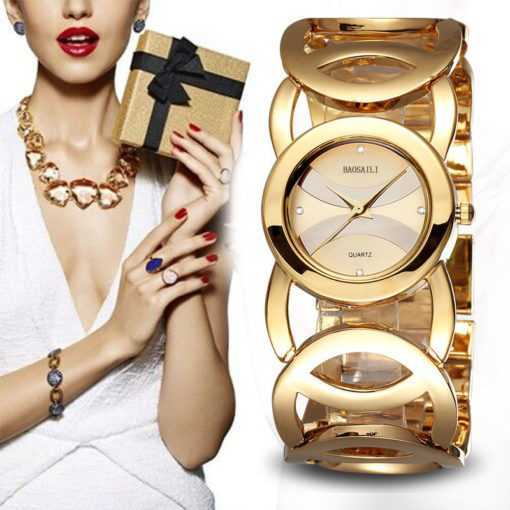 Circles Strap Stainless Steel Back Shinning Women's Bracelet Watch Watches cb5feb1b7314637725a2e7: Black|Gold|Silver