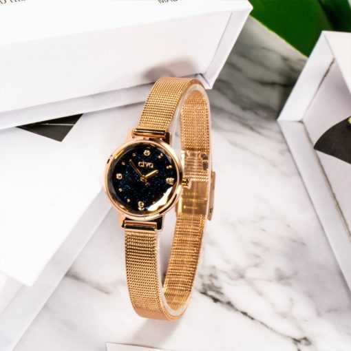 Fashion Women's Blue Face Mesh Band Waterproof Quartz Watch Watches cb5feb1b7314637725a2e7: mesh blue|mesh gold brown|mesh white